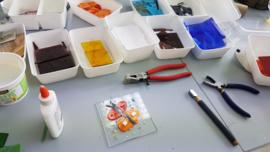 Donderdag 16 december Workshop glasfusing in Raalte