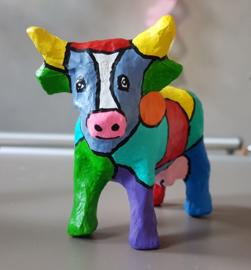 Kinderfeestje beeld beschilderen met vrolijke patronen