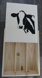Wine Box oder Aufbewahrungsbox Kuh