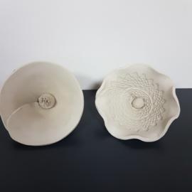 10 keramiek cursus les:  boetseren en glazuren. Atelier-Bertina te Raalte