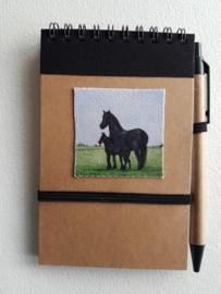 Notitie boekje paard
