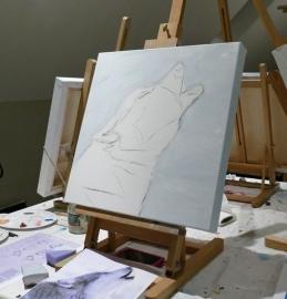 Resultaten: 3 november 2015 individuele opgave workshop schilderen  te Heeten