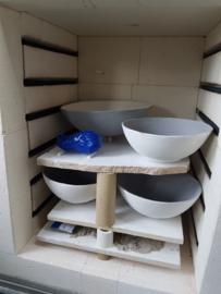 1 cursus les:  Keramiek boetseren en glazuren. Atelier-Bertina te Raalte