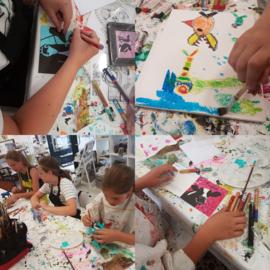 Donderdag even weken 16:30-17:30 uur: Workshop schilderen voor kinderen en tieners