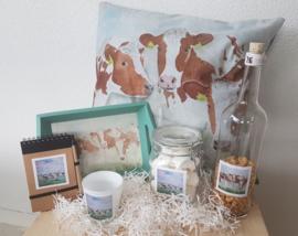 Roodbont koeien geschenken/cadeau  pakket (ook voor kerst)