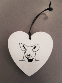 Heart with pig