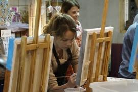 Resultaten: April 2016 Individuele opgave workshop schilderen Collendoorn