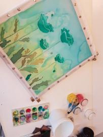 Op afspraak: workshop zijdeschilderen in Raalte