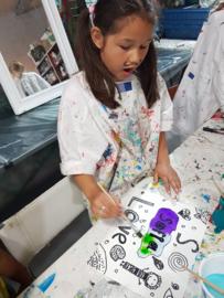 Kinderfeestje tatoeage schilderij