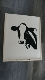 Wine box or storage box cow