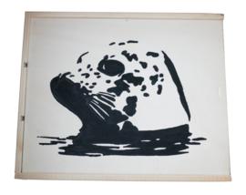 Wijnkist of opbergkist zeehond (3 vaks)