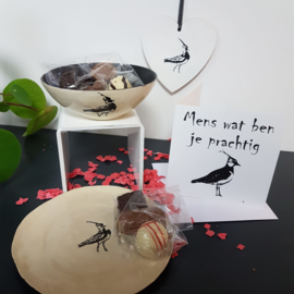 Kievit (vogel) cadeau (zwart wit)
