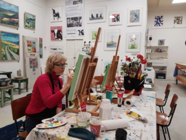 Zaterdag  7 maart: workshop schilderen in Raalte Waag 10