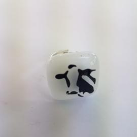 koeien ring met glazen applicatie