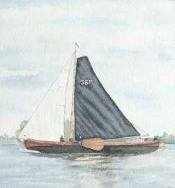 Opdracht: skûtsje / zeilboot