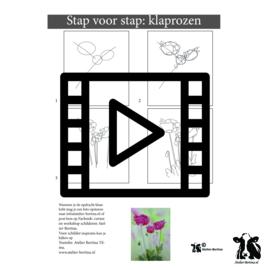 Live les / tutorial: schets van klaprozen en aquarel schilderen
