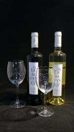 Geit wijnglas