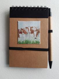 Notitie boekje rood bonte koe