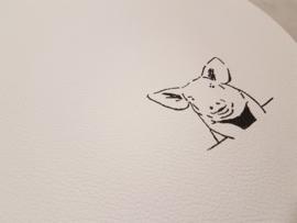 Placemat rond met varken