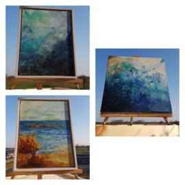Blauwe  schilderij