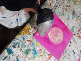 Prinses kinderfeestje schilderen