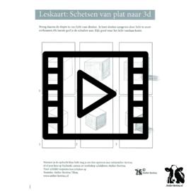 les live /tutorial schetsen: Kubus