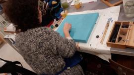 5 schilder lessen acryl en aquarel. Atelier-Bertina te  Waag 10 Raalte