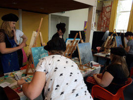 Resultaten: 14 april 2018 vrijgezellen feestje workshop schilderen op locatie