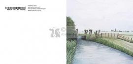 Fries landschap met water en hek wenskaart