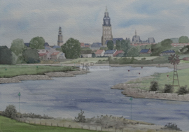 Deventer aquarel schilderij