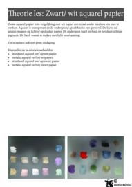 Stap voor stap tutorial: Metallic met aquarelverf