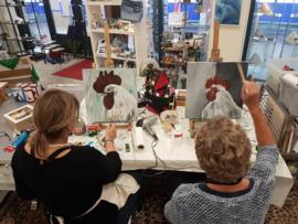Resultaten Zaterdag  oktober workshop schilderen in Raalte Waag 10