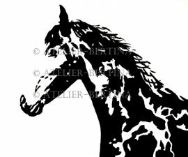 Horse acrylic painting