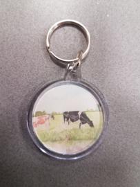 sleutelhanger koe (rond)