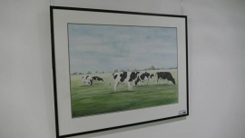 Cows watercolor painting