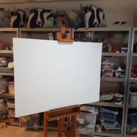 Opdracht: Bedrijfsnaambord in opdracht met acrylverf ontwerp