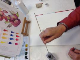 10 schilder lessen acryl en aquarel. Atelier-Bertina te Raalte