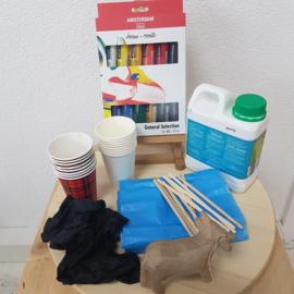 Thuis workshop: acryl gieten op beeldje