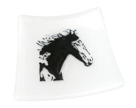 Glazen  schaaltjes paard  glasfusion