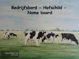 Cow Company Nameplate design 12