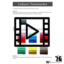 Les live /tutorial: toonwaarden acryl schilderen