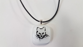 Cat glass pendant necklace atelier bertina