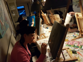 Resultaten: 6 april 2018 op locatie schilder workshop voor vriendinnen
