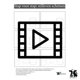 les live /tutorial schetsen: schaduw schetsen in een stilleven van plat naar 3d