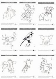 10 kleurplaten van dieren