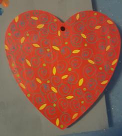 Kinderfeestje hart beschilderen met vrolijke patronen