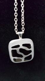 Glas Anhänger Halskette Atelier Bertina
