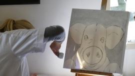 Resultaten 19 augustus 2015 Teamuitje schilderen te Pingjum met een high tea