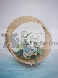 Tweeluik aquarel schilderijen