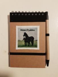 Notitie boekje fries paard (Moai Fryslân)